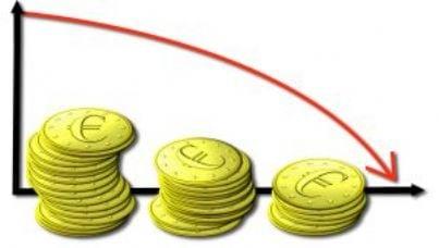 crisi fallimento grafico default soldi