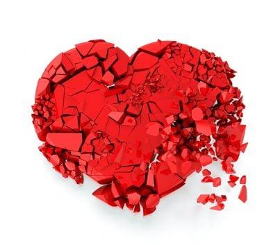 cuore spezzato concetto divorzio tradimento