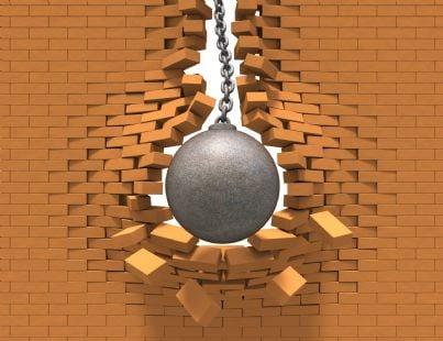 palla che demolisce costruzione