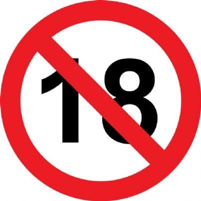 vietato minori di diciotto anni