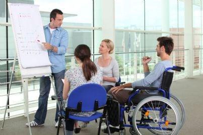 Disabili a un corso di formazione