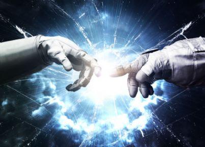 dita di Michelangelo che si toccano nello spazio