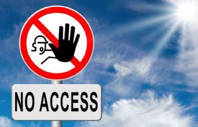 segnale di divieto di accesso