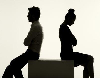 coppia triste per divorzio