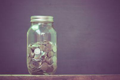 soldi nel barattolo