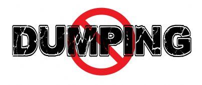 parola dumping con cartello stop
