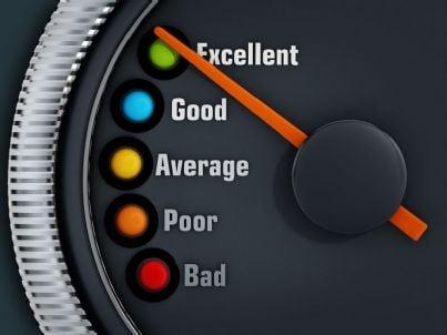 livelli di eccellenza con ago puntato sul massimo