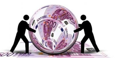 Rappresentazione di un mondo fatto di soldi