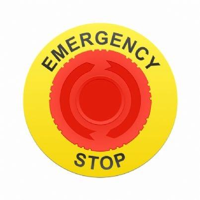 pulsante stop emergenza