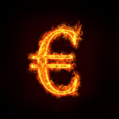euro in fiamme