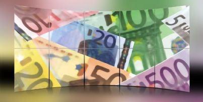 Banconote su uno schermo