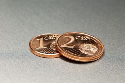 monete di euro da 1 e centesimi
