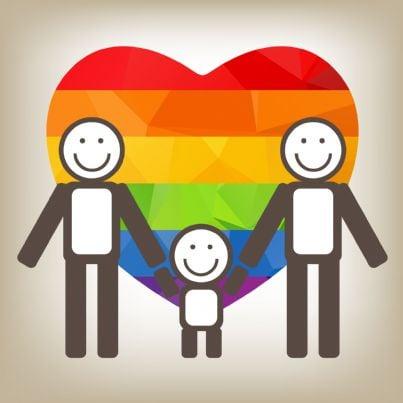 immagine vettoriale di famiglia omosessuale