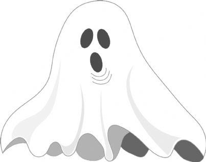 Fantasma con lenzuolo bianco