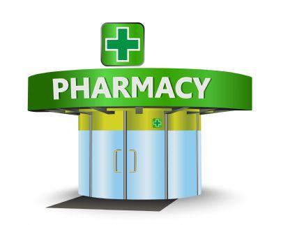 sede di farmacia con simbolo sul tetto