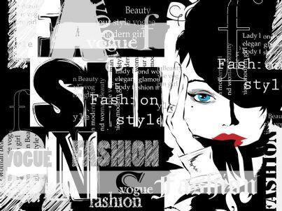 locandina vintage sulla moda
