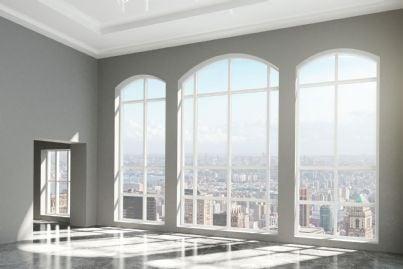 serie di grandi finestre