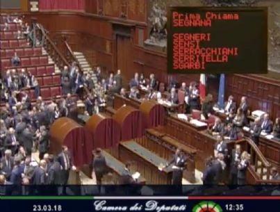 camera dei deputati elezioni presidente camera 2018
