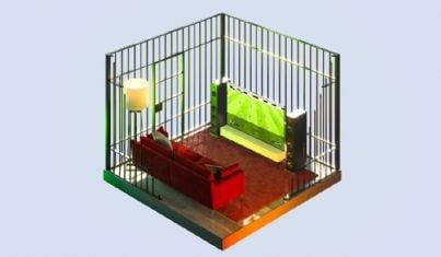 appartamento dentro le sbarre del carcere