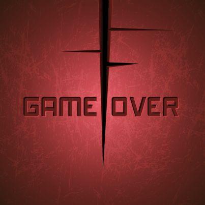 parole game over su sfondo rosso