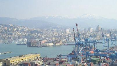 Foto panoramica di genova