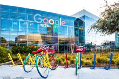 biciclette su Googleplex il quartier generale di Google