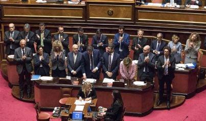 governo lega 5 stelle primo intervento alla Camera dopo insediamento
