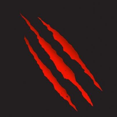 tela con graffi rossi concetto violenza