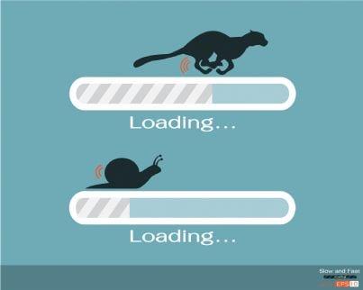 internet simboli di connessione lenta e veloce