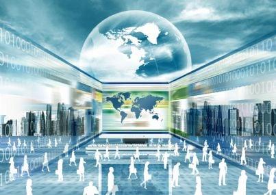 internet ed evoluzione del mondo concetto rete