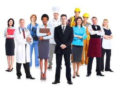 gruppo di lavoratori pubblico impiego