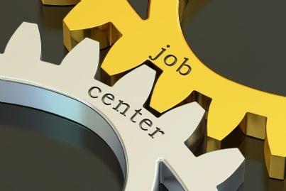 ingranaggio con parole job center centro lavoro