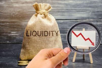 parola liquidazione e grafico crisi