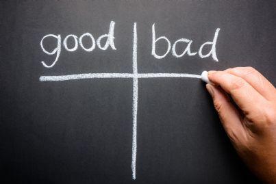 lista con buoni e cattivi