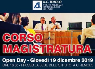 locandina corso magistratura a Roma