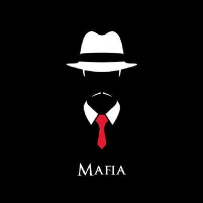parola mafia su sfondo nero