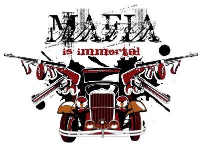 macchina con scritta mafia