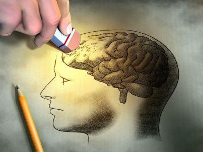 Rappresentazione simbolica della cancellazione dei ricordi