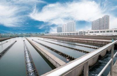 moderno impianto di trattamento delle acque reflue