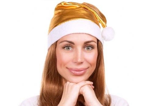 donna in abbigliamento natalizio