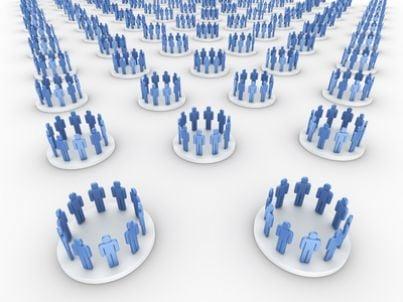 Immagine stilizzata di gruppi di lavoro
