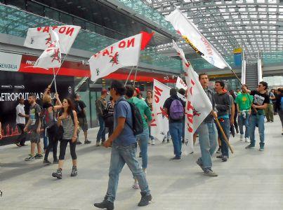 Manifestazione no Tav a Porta Susa