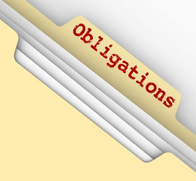 parola obbligazioni in una cartella piena di documenti