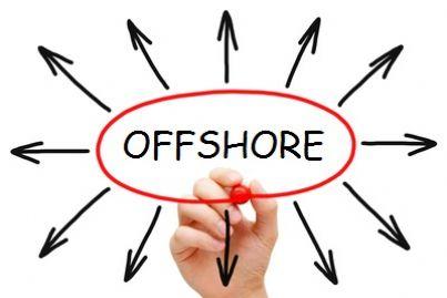 Mano che scrive la partola offshore
