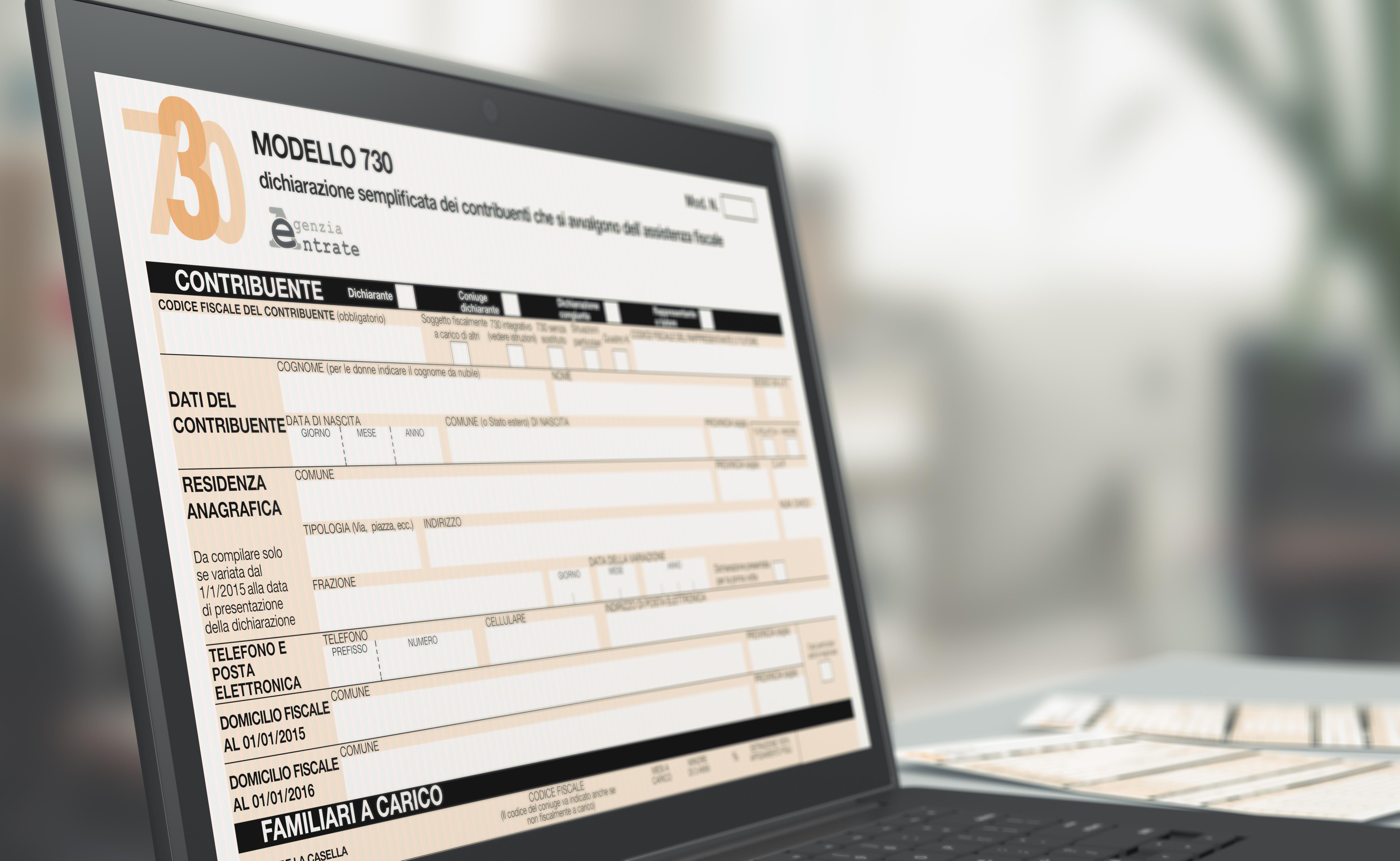 Fisco da luned modello precompilata online for Dichiarazione 730 precompilata