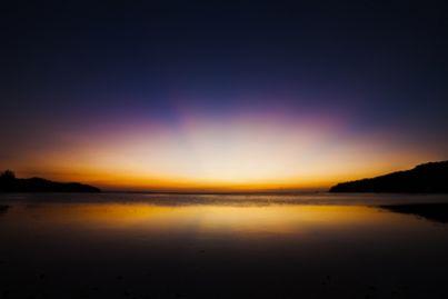 orizzonte futuro sunset