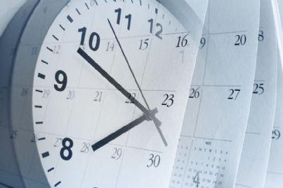 orologio e pagine del calendario