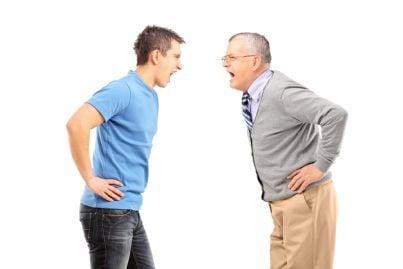 padre e figlio che litigano