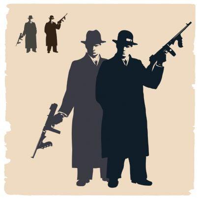 gangster con armi immagine vintage
