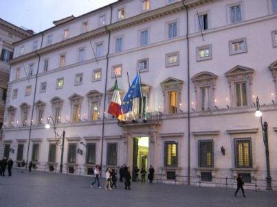 Foto della facciata di Palazzo Chigi